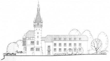 původní návrh Václava Krejčího, Jany Kallmünzerové a Jana Kallmünzera z roku 1999; podrobnosti viz článek Martin Krsek: Jak bude vypadat hotel na Větruši?