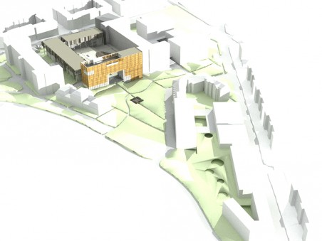 studentský návrh na přestavbu nemocnice na kampus, soutěžní přehlídka