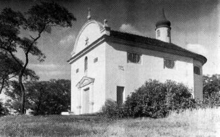 původní barokní kaple, která podlehla demolici v roce 1976