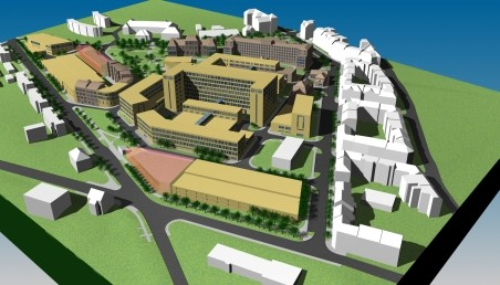 aktualizace urbanisticko-architektonické studie - Z. Šťastný, J. Kňákal (Projekty CZ s.r.o., dříve Arch Projekt s.r.o.), 2008; vizualizace Karel Jílek, 3D grafik Liberec