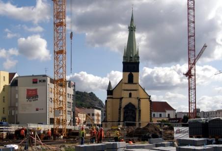 průběh stavby - srpen 2008