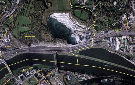 fotomapa na serveru kontaminace.cenia.cz - mariánská skála v současnosti