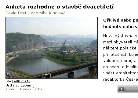 Zpráva o anketě Ú///A Prix na Českém rozhlasu Sever - http://www.rozhlas.cz/severoceskyatlas/ostatni/_zprava/anketa-rozhodne-o-stavbe-dvacetileti--820361