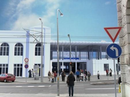 Atelier AP (Ing. arch. Z. Havlík, P. Dvořák, Š. Havlík) - přestavba hlavního nádraží - vizualizace