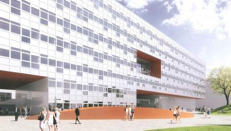 vizualizace objektu Přírodovědecké fakulty na místě pavilonu A určeného k demolici - SIAL architekti a inženýři, 2012