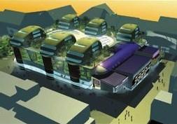 jeden z návrhů na zástavbu bloku pod hraničářem - i-mise s.r.o., arch. V. Jedlička, V. Rejšek - zdroj: http://www.i-mise.cz
