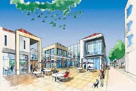 jedna z úvodních skic, kterou prezentoval údajný architekt Ján Makovník, zastupující firmu AM Development