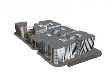 jeden z návrhů na zástavbu bloku pod hraničářem - arch. T. Prímus, arch. S. Kocychová - zdroj: http://projects.tomasprimus.com/?p=622